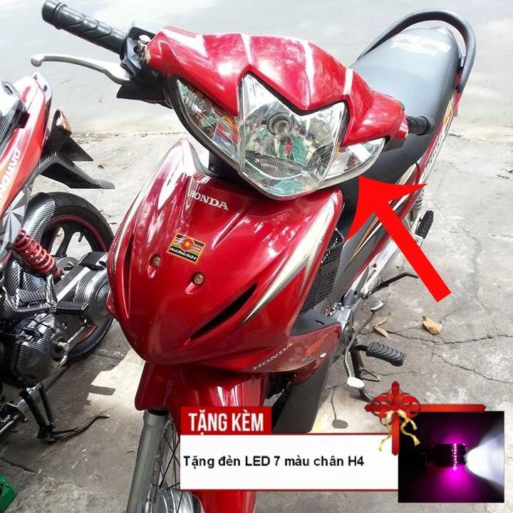 [QUÀ CHẤT - TẶNG ĐÈN LED 7 MÀU CHÂN H4] Đầu đèn pha xe WAVE S110, RSX bóng tròn siêu sáng