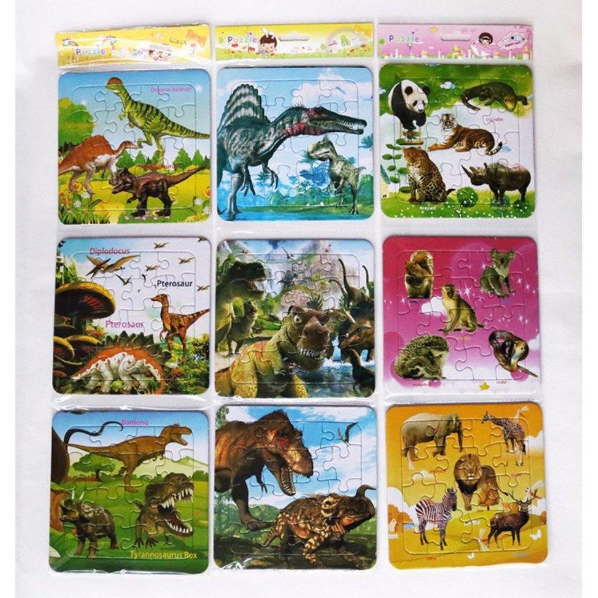 Hình ảnh 10 bảng ghép hình trí tuệ các con vật và thiên nhiên xung quanh