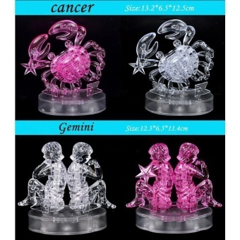 Hình ảnh 3D Puzzles dimensional White Crystal Cancer - intl