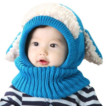 Adorable Animal Spliced Color Block Children Hooded Cowl - intl