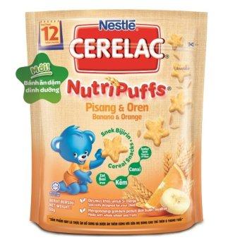 Mã giảm giá Bánh ăn dặm dinh dưỡng – Nestlé CERELAC Nutripuffs vị Chuối Cam  giảm giá