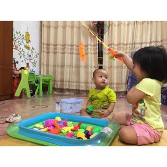 Bể phao câu cá đồ chơi cho bé kèm bơm