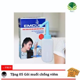 Bình rửa mũi cho bé Emcur (Đức) + Tặng 05 gói muối kháng viêm