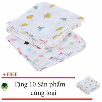 Bộ 10 Khăn sữa 2 lớp em bé - Thấm hút tốt ( 32 x 32cm) + Tặng 10Chiếc cùng loại - 8351785 , NO007TBAA6Y08FVNAMZ-12745831 , 224_NO007TBAA6Y08FVNAMZ-12745831 , 120000 , Bo-10-Khan-sua-2-lop-em-be-Tham-hut-tot-32-x-32cm-Tang-10Chiec-cung-loai-224_NO007TBAA6Y08FVNAMZ-12745831 , lazada.vn , Bộ 10 Khăn sữa 2 lớp em bé - Thấm hút tốt ( 32 x 3