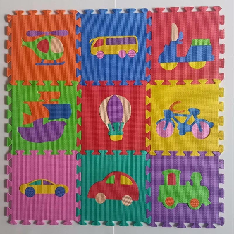 Bộ 10 Miếng Thảm Xốp Mềm Lót Sàn khổ 1m vuông (bộ hình ngẫu nhiên như: Bộ Số, Bộ Thú, Bộ Hình Học, Bộ Trái cây, Bộ Giao thông)