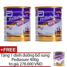 Bộ 2 dinh dưỡng bổ sung Pediasure B/A Hương Vani 1.6KG + Tặng 1 Dinh dưỡng bổ sung Pediasure 400g