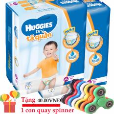 Bộ 2 gói Tã quần Huggies Dry Pants XL62 miếng (Cho trẻ từ 12-17kg)