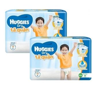 Bộ 2 gói tã quần Huggies Dry XXL28