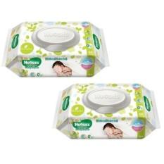 Bộ 2 khăn giấy ướt cho trẻ sơ sinh Huggies 64 tờ x 2