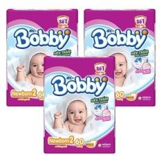 Bộ 3 gói Tã Giấy Bobby Fresh Newborn 2-60.
