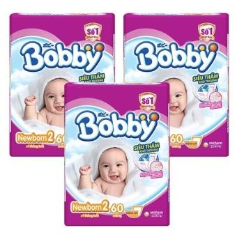 Mua Bộ 3 gói tã giấy Bobby Fresh Newborn 2-60  ở đâu tốt