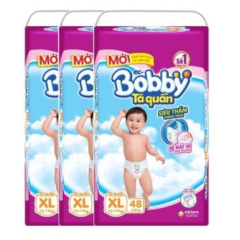 Bộ 3 gói tã quần Bobby XL48