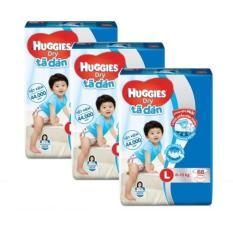 Bộ 3 tã dán Huggies Dry Super Jumbo L68