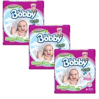 Bộ 3 tã giấy Bobby Fresh Newborn 1-88