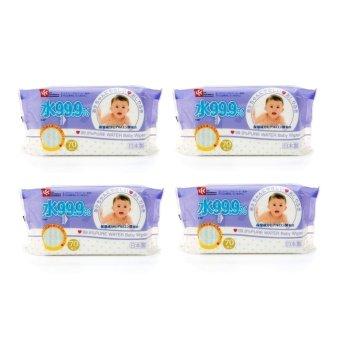 Bộ 4 hộp giấy ướt nước tinh khiết 99.9% LEC E287 70 tờ