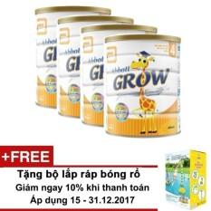 Bộ 4 sữa bột Abbott Grow 4 (G-Power) hương vani 900g + Tặng bộ lắp ráp bóng rổ Abbott Grow