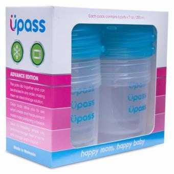 Bộ 6 Hộp Trữ Sữa Mẹ – Thức Ăn – Sữa Bột Cho Bé Upass Malaysia (Trắng)  miễn phí