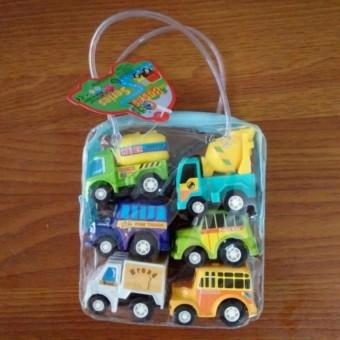 Bộ 6 xe ô tô đồ chơi ngộ nghĩnh cho bé