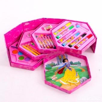 Bộ bút chì màu xoay 4 tầng 46 món ngộ nghĩnh cho bé PD01
