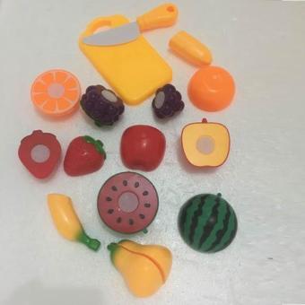 Bộ cắt ghép hoa quả giúp các bé gái vui chơi thoải mái