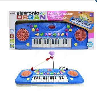 Bộ đàn Electronic Organ kèm Micro (Xanh)
