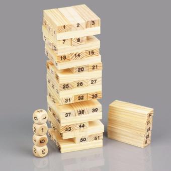 Bộ đồ chơi rút gỗ 54 thanh siêu đẹp