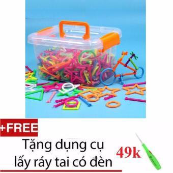 Bộ đồ chơi xếp hình sáng tạo cho bé + tặng dụng cụ lấy ráy tai cóđèn