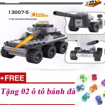 Bộ lắp ghép xếp hình xe tăng 90 chi tiết + Tặng 02 ô tô bánh đà - 8651244 , OE680TBAA72CLOVNAMZ-12966039 , 224_OE680TBAA72CLOVNAMZ-12966039 , 142500 , Bo-lap-ghep-xep-hinh-xe-tang-90-chi-tiet-Tang-02-o-to-banh-da-224_OE680TBAA72CLOVNAMZ-12966039 , lazada.vn , Bộ lắp ghép xếp hình xe tăng 90 chi tiết + Tặng 02 ô tô