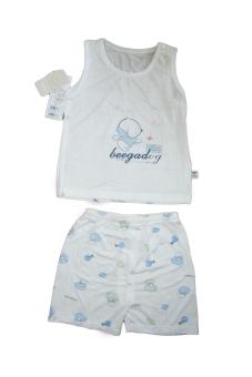 Bộ quần áo ba lỗ sợi tre Beegadog 3656 (Xanh)