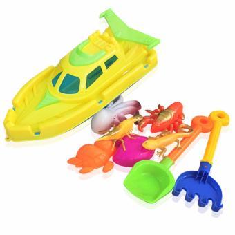 Bộ thuyền + đồ chơi cát đi biển cho bé
