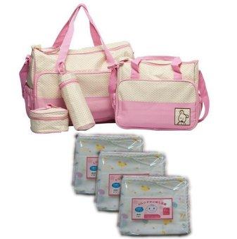 Bộ Túi đựng đồ cho mẹ và bé (Hồng) và Bộ 2 túi khăn sữa 2 lớp32x32cm - 8731237 , SH593TBBAFODVNAMZ-847705 , 224_SH593TBBAFODVNAMZ-847705 , 565000 , Bo-Tui-dung-do-cho-me-va-be-Hong-va-Bo-2-tui-khan-sua-2-lop32x32cm-224_SH593TBBAFODVNAMZ-847705 , lazada.vn , Bộ Túi đựng đồ cho mẹ và bé (Hồng) và Bộ 2 túi khăn sữa 2 lớp32