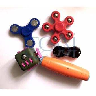 Combo 5 món Xả Stress Hand Spinner + Fidget Cube + Komuru LegaxiHSDH