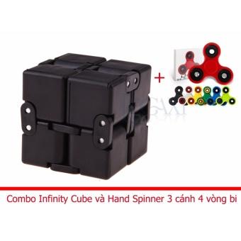 Combo Khối quay lập phương Infinity Cube + Hand Spinner 3 cánh 4 vòng bi IC02