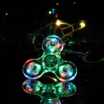 CON QUAY 3 CÁNH TRONG SUỐT CÓ ĐÈN LED CỰC ĐẸP FIDGET SPINNER