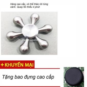 Con quay 6 cánh Fidget Spinner cao cấp không ma sát xả stress (màubạc) + Tặng bao đựng cao cấp - 8149386 , FI125TBAA4T8X6VNAMZ-8867296 , 224_FI125TBAA4T8X6VNAMZ-8867296 , 189000 , Con-quay-6-canh-Fidget-Spinner-cao-cap-khong-ma-sat-xa-stress-maubac-Tang-bao-dung-cao-cap-224_FI125TBAA4T8X6VNAMZ-8867296 , lazada.vn , Con quay 6 cánh Fidget Spinner