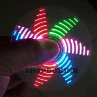 Con quay xả stress fidget spinner có led 18 kiểu đèn