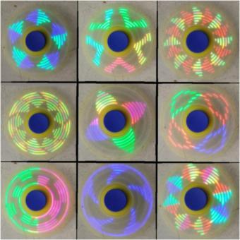 Con quay xả stress spiner hiển thị nhiều hình led khi quay