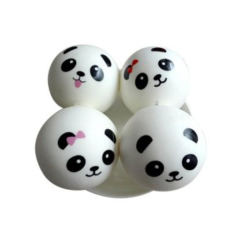 Cute Panda Squishy Kawaii Buns Bread Charms Key/Bag/Car/Cell Phone Straps ...