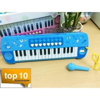 Đàn Organ điện tử kèm micro cho bé (Xanh)
