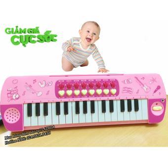 Đàn Piano 32 phím kèm micro cho bé (Hồng)