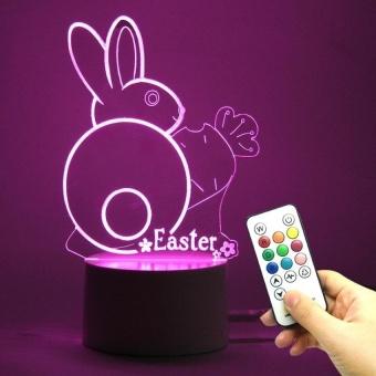 DC5V USB Supply Power Easter Day 3D RGB Night Lamp - intl