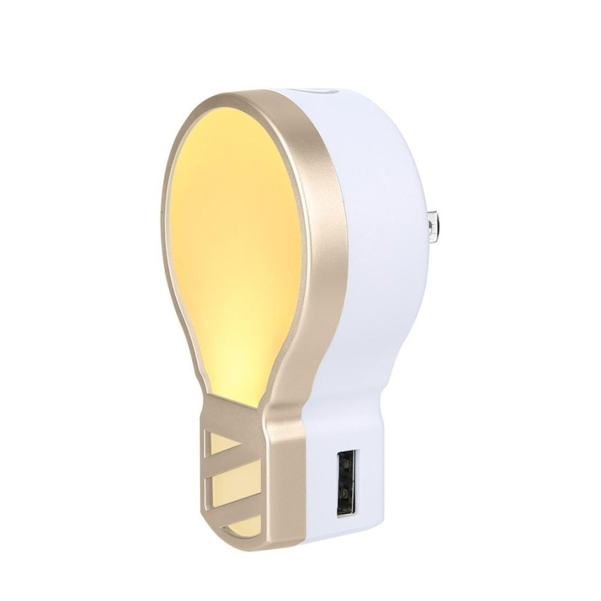 Wall Lamp With Usb Charger : dewsty Plug In LED Night Light With 5V 3.1A Dual ...-Gia 474,000?