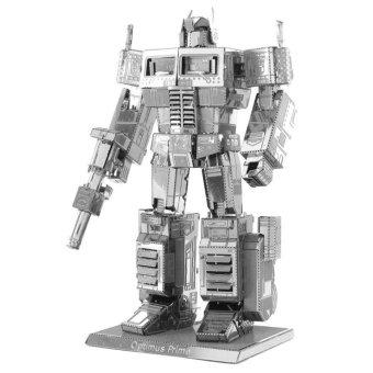 DIY 3D Puzzle Assemble Optimus Prime Robot Model Toy - Silver -intl