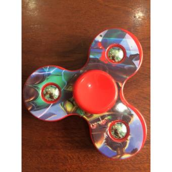 Đồ chơi con quay 3 cánh bi toys ( đỏ hình siêu nhân )
