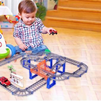 Đồ chơi lắp ráp đường ray cho ô tô chạy