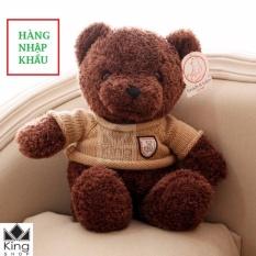 Nơi Bán Gấu Bông Teddy Áo Len Cao Cấp Khổ Vải 60cm Cao 40cm – GB04 – Gấu Teddy Nhập Cao Cấp