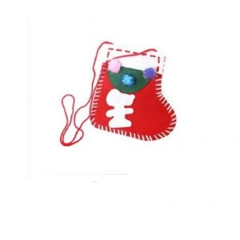 GDS Diy Handmade Sock Shaped Felt Mini Hand Bag Kit Kidcraft Toy - intl