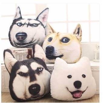 Gối ôm hình thú cưng in 3D Cloud store (hình Husky)