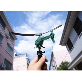 Handle Pull The Plane Outdoor For Children Baby Play Gift AircraftHelicopter - intl