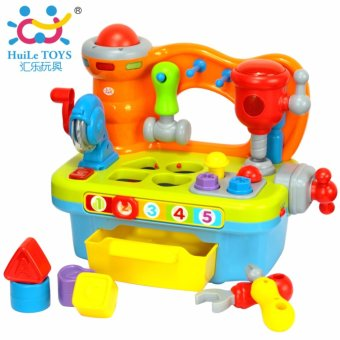 HUILE TOYS 907 Baby Toys Early Learning Games Toy WorkshopBrinquedos Bebe Electric Juguettes Infant Sounding Tools Toys Gifts- intl